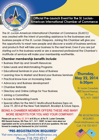 St. Lucian-American International Chamber of Commerce Pre-Launch Event